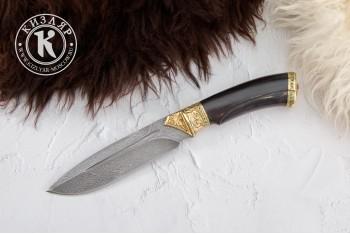 Нож Леопард дамасск художественное литье