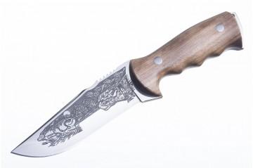 Нож Хазар AUS-8 художественно-оформленный дерево