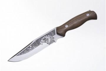 Нож Беркут AUS-8 художественно-оформленный дерево