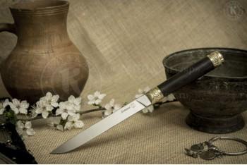 Нож Ботлих AUS-8 граб латунь