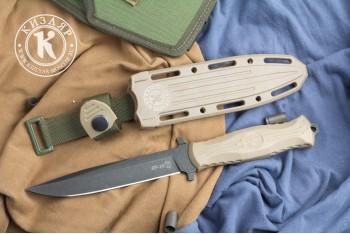 Нож НР-18 AUS-8 стоунвош черный эластрон песок