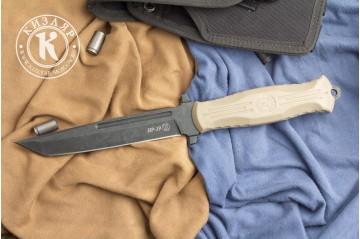 Нож НР-19 стоунвош черный эластрон песок