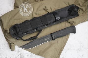 Нож Колыма-1 AUS-8 стоунвошь черный MOLLE black