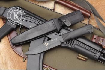 Нож Коршун-3 AUS-8 эластрон с символикой ВДВ