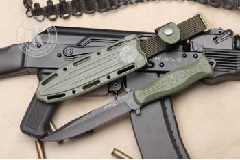 Нож НР-18 AUS-8 эластрон олива