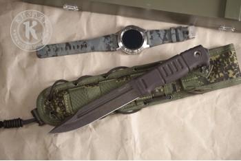 Нож Витязь AUS-8 эластрон MOLLE oliva
