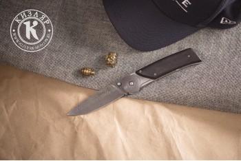 Нож складной Байкер-1 дамасск рукоять граб