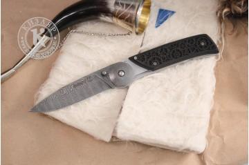 Лимитированный складной нож Байкер-1 дамасск 3D рукоять