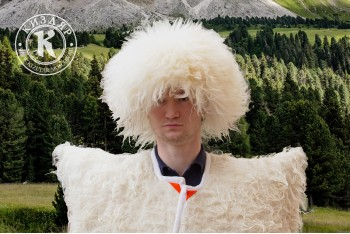Папаха кавказская овечья белая