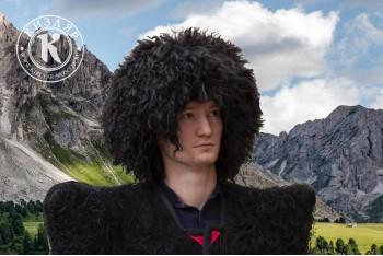 Папаха кавказская козья черная