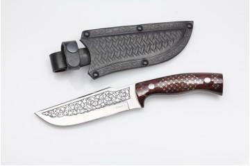 Нож Бекас-2  AUS-8 унцукульская насечка